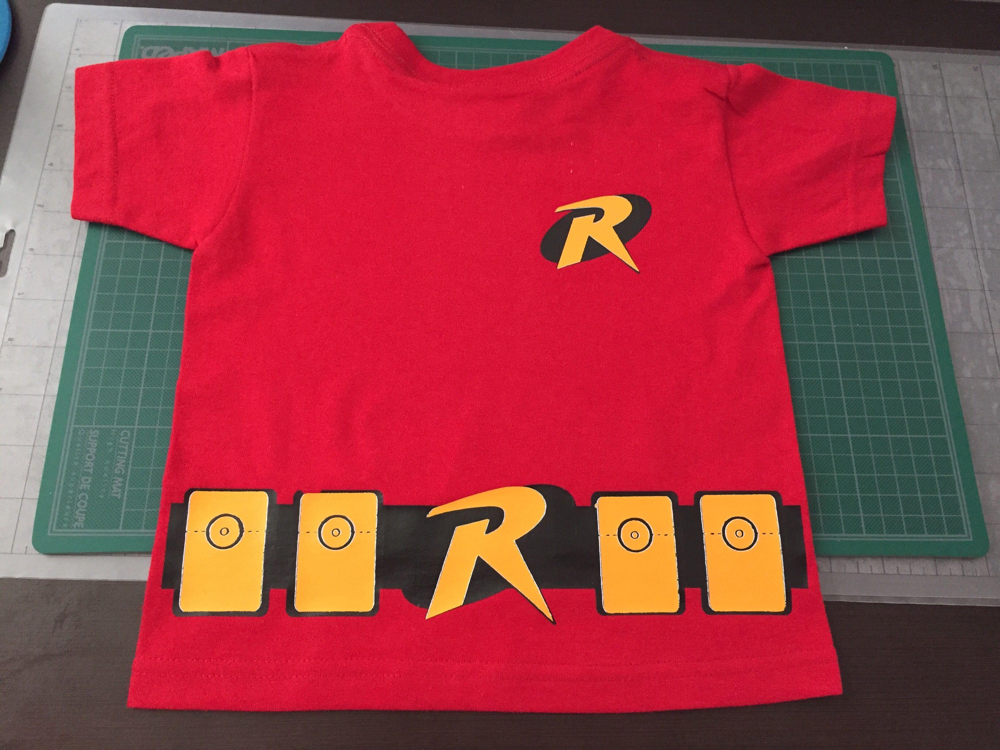 Playera 100% algodón personalizada en vinil textil para niño de 1 año Robin a77ccca407a90