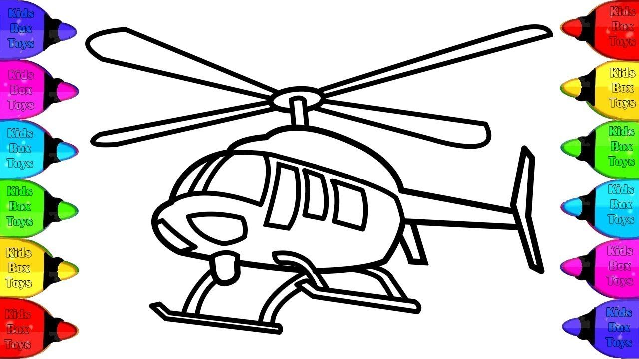 Glitter Helicopter Coloring Pages For Kid Helikopter Halaman