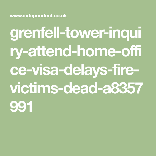 Bereaved Grenfell Relatives Blocked From Attending Public