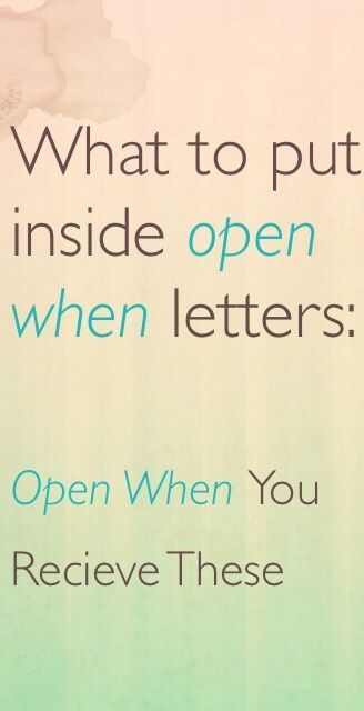 What to put inside of open when letters for your boyfriend for