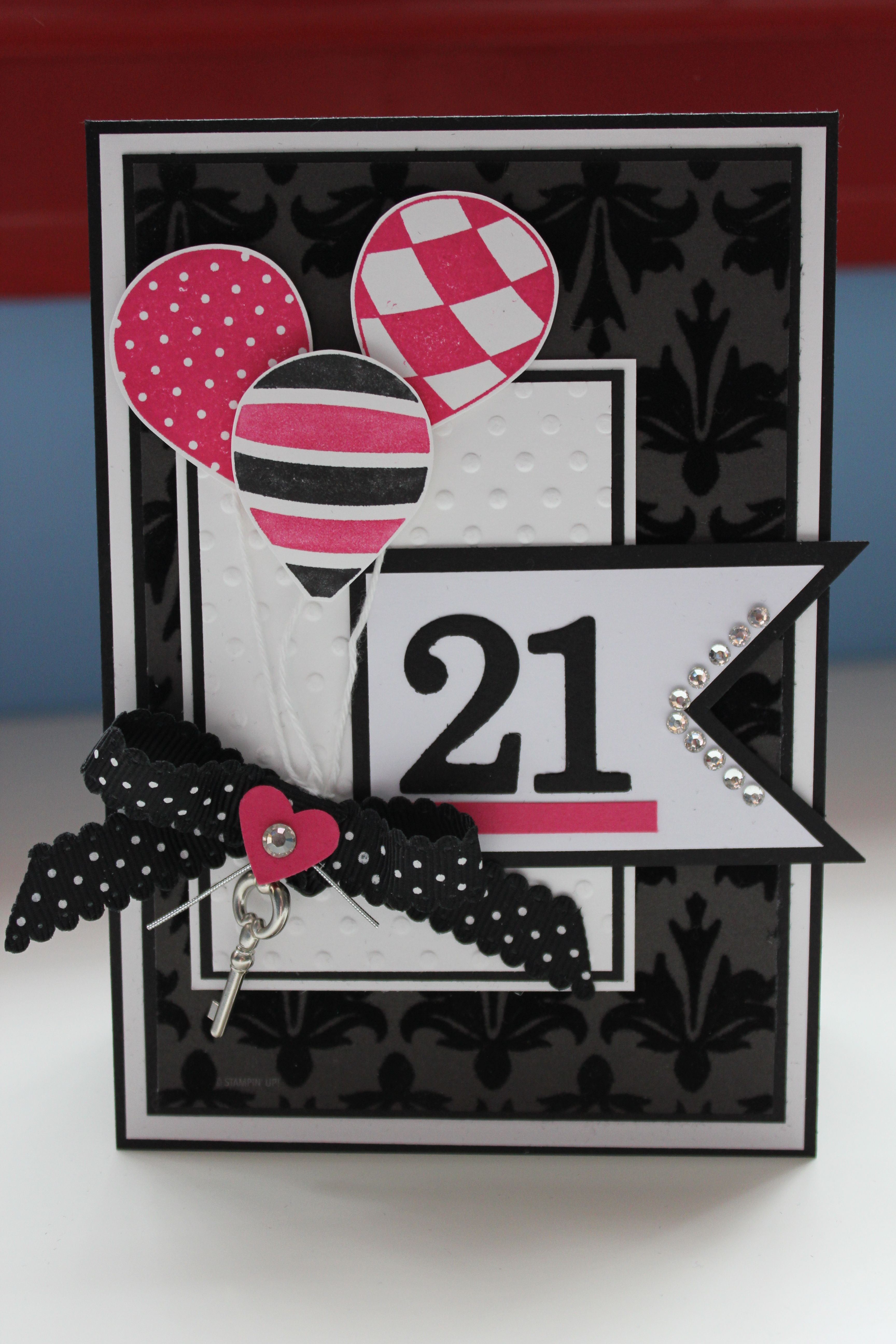 handmade birthday card sophisticated black and white with – Sophisticated Birthday Cards