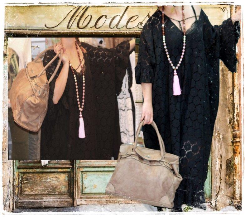 robe dentelle noire et boheme by chantal b chantal b in With robe boheme noire