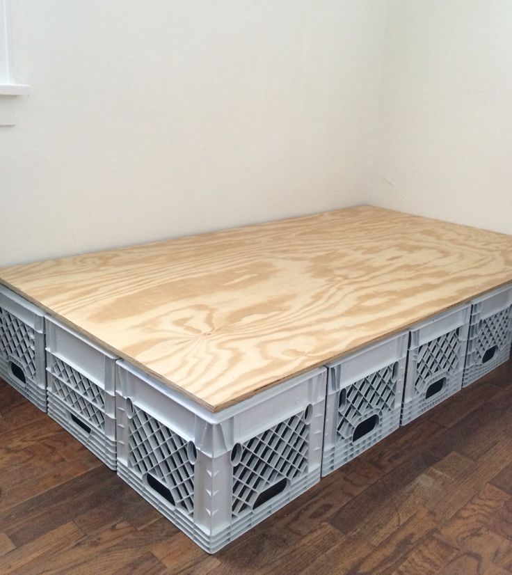 Bed Frame Made Of Plastic Crates Crates Frame Plastic Mebel