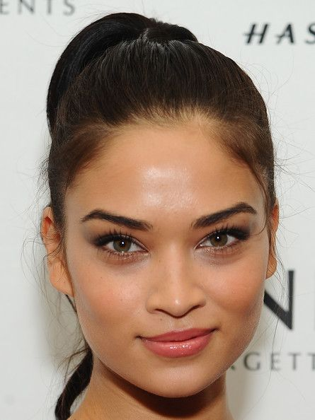 Shanina Shaik in The Daily Front Row And Modelinia Present The Models Issue Party - Arrivals - Fall 2014 Mercedes - Benz Fashion Week #eveninghair