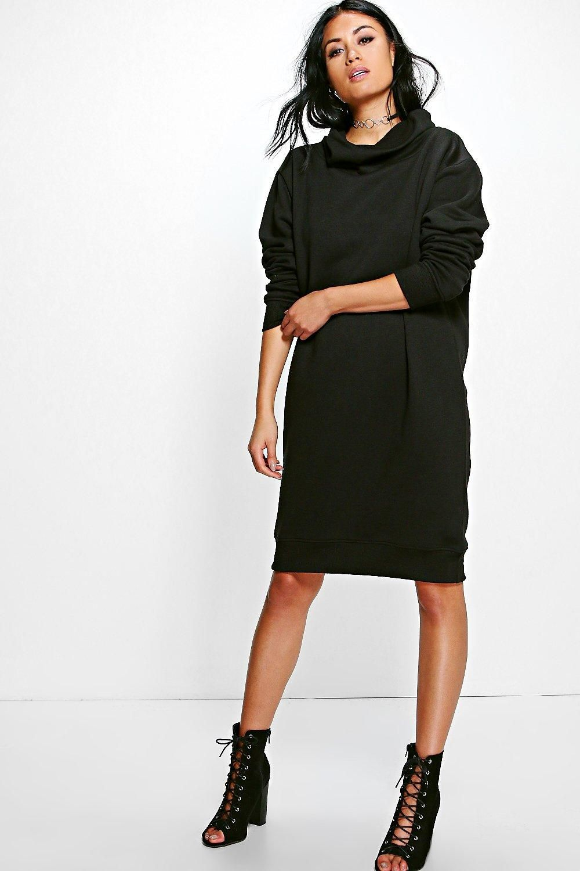 3f5d858d1d2aaf Em Cowl Neck Long Sleeved Sweat Shirt Dress | | C L O T H E S - wish ...