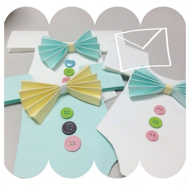 onesie bow tie baby shower invites babyshower ideas pinterest
