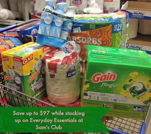 Save up to $97 while stocking up on your everyday essentials while shopping at Sam's Club #fullhomehappyhome #ad