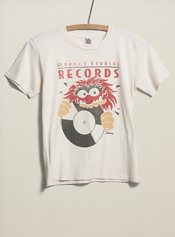 "dabbf64a For D -""Kids Boys Muppets Studios Records Vintage Inspired Heather Tee"""