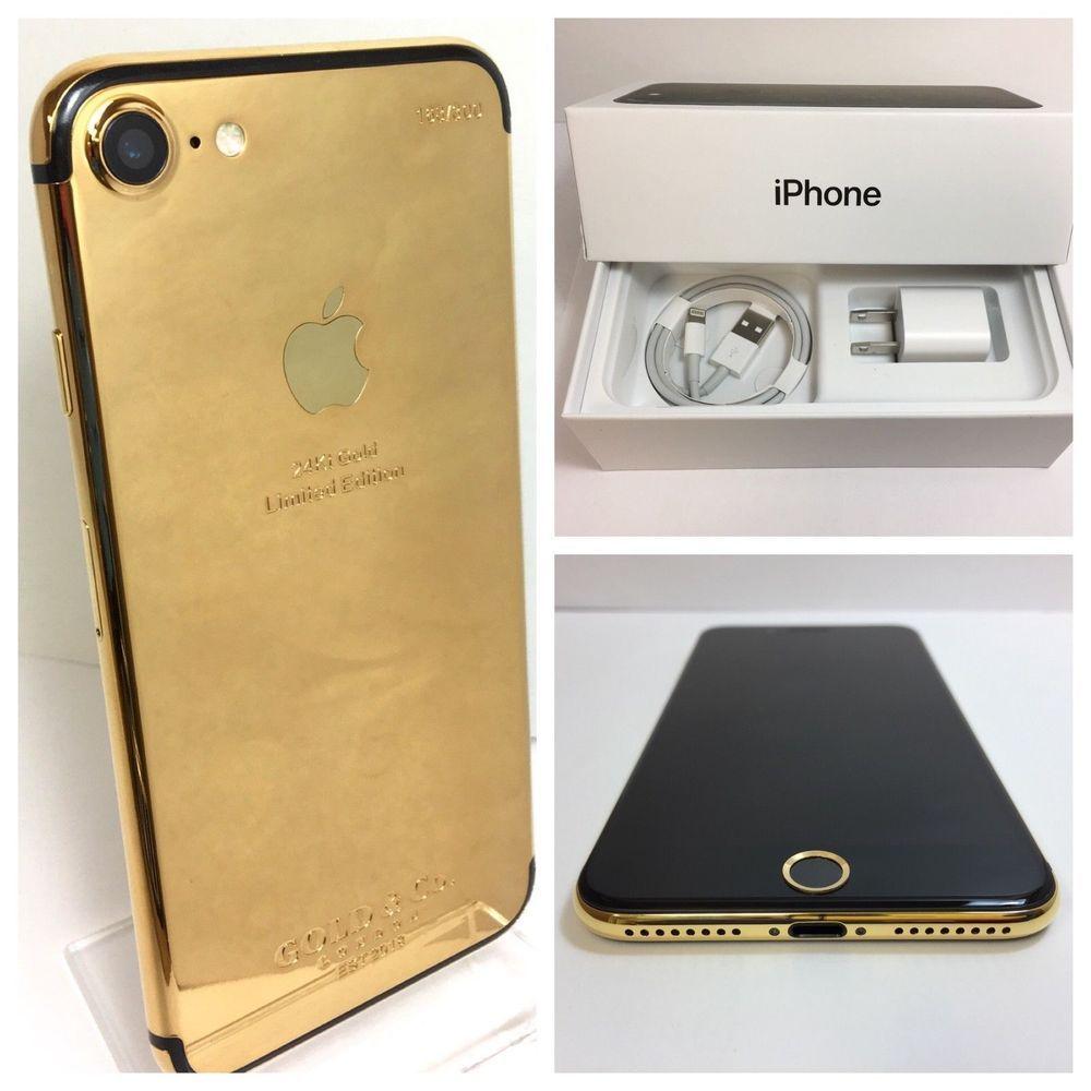Custom 24k Gold Plated Iphone 7 256gb Unlocked Any Sim Cdma Gsm Ebay Iphone Unlocked Cell Phones Apple Iphone 7 32gb