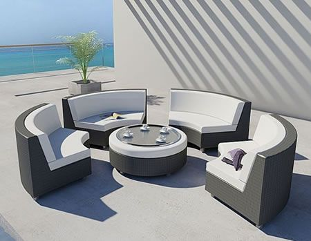 rounded exterior sofa series luxury and elegant home design in the world - Mobilier Exterieur Design