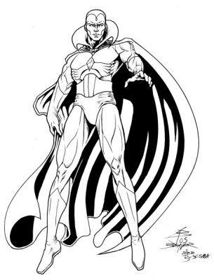 Illmosis Art the Vision Marvel drawings Marvel vision