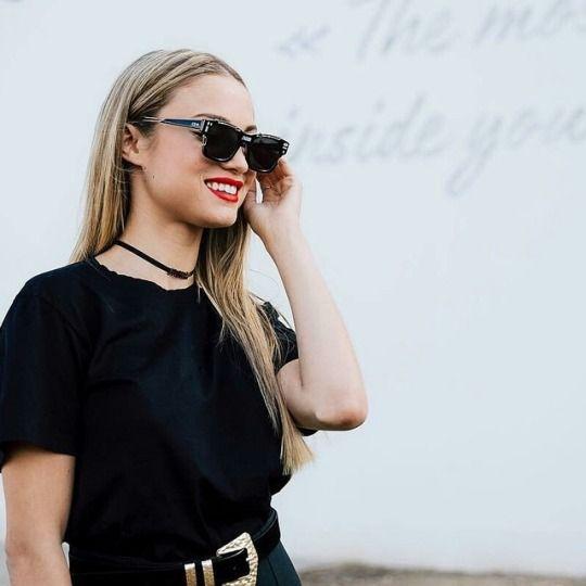 3458534cb11 Rose Bertram in Dior J Adior sunglasses