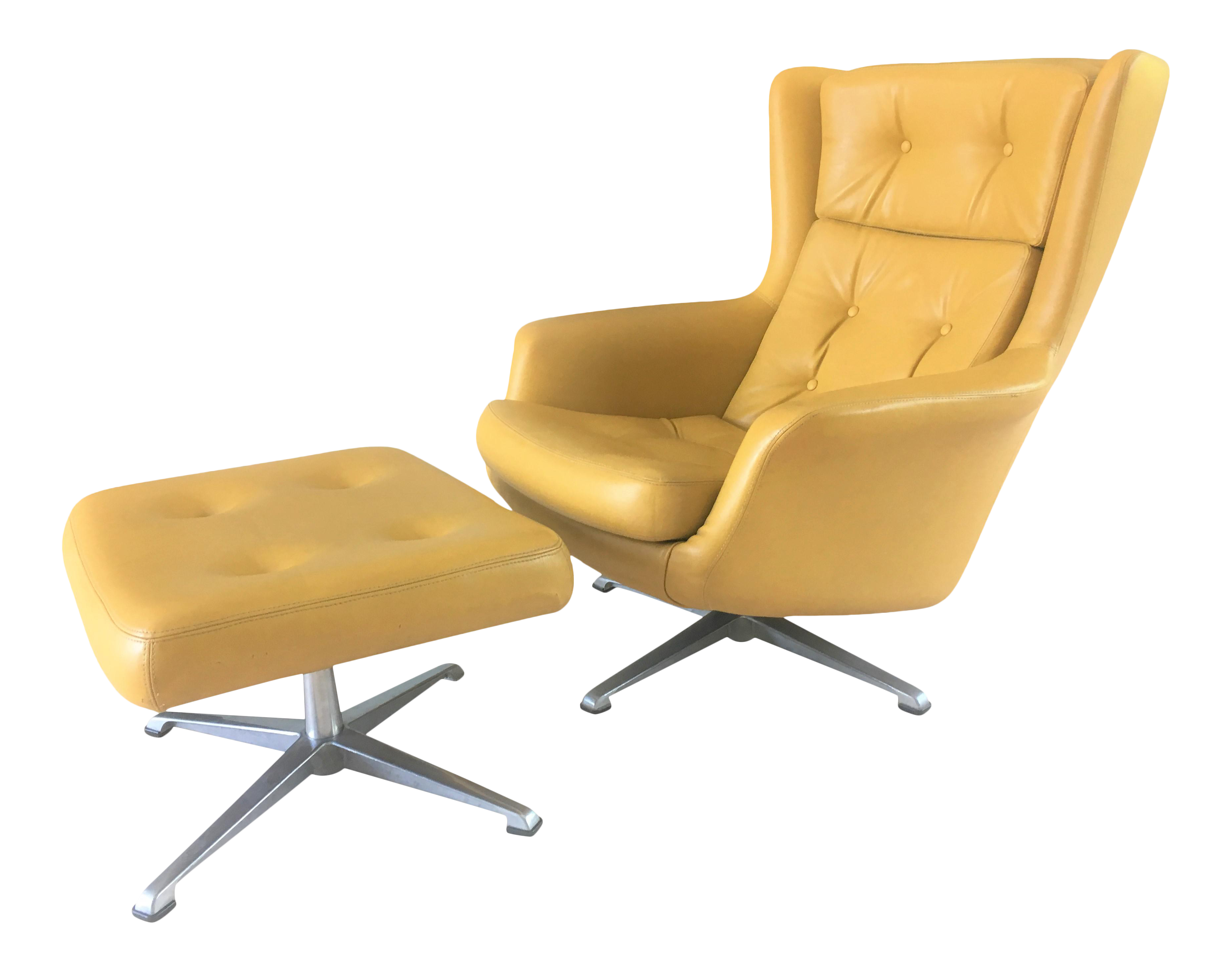 Wonderful Mid Century Modern Lounge Chair With Matching Ottoman. This Set  Is So Remarkably