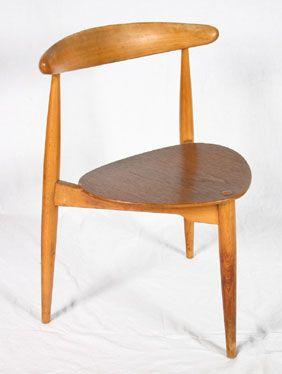 Three Leg Chair By Hans Wegner Vintage