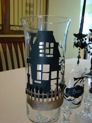 Halloween Decor use martha Stewart window clings Fall Favorites - martha stewart halloween ideas