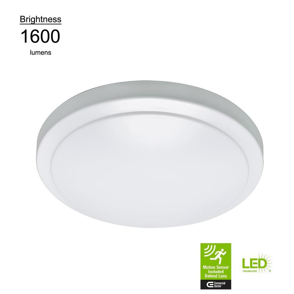 12 In High Output Led Flush Mount Ceiling Light With Adjustable
