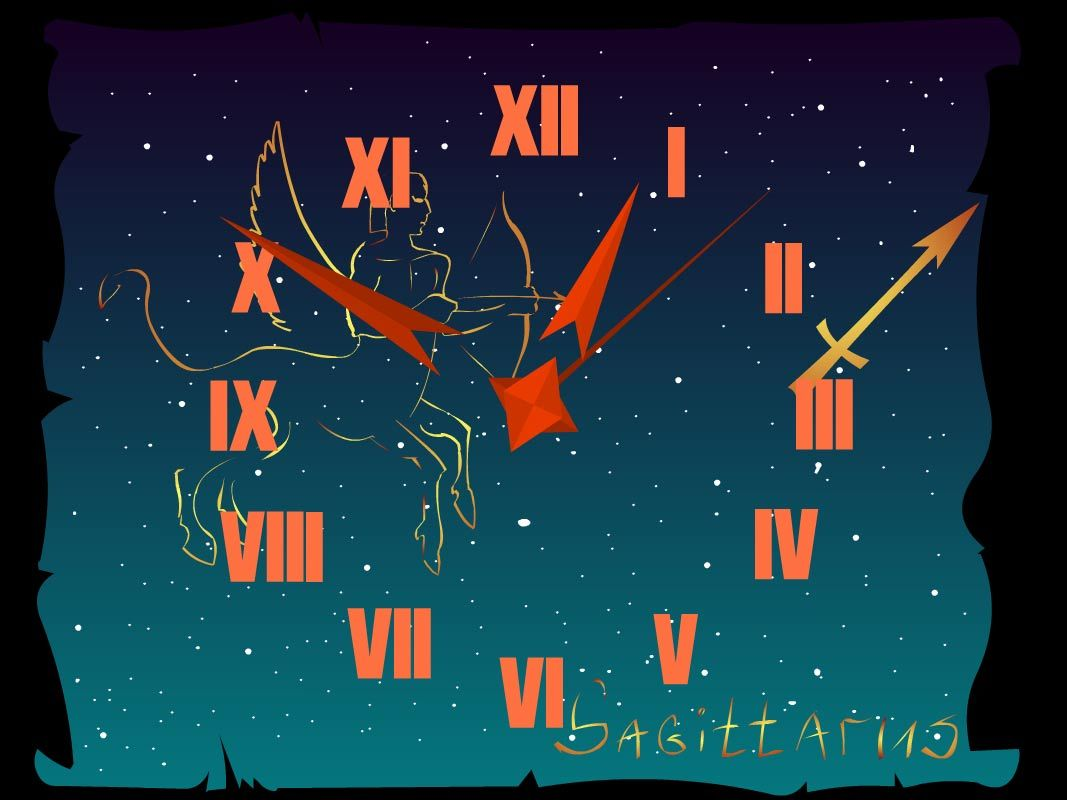 Sagittarius Download Sagittarius Zodiac Clock Live Wallpaper