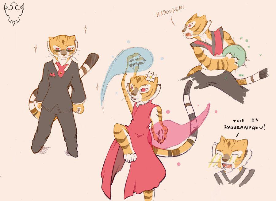 Po and Master Tigress Tickled by Bondomunk on DeviantArt