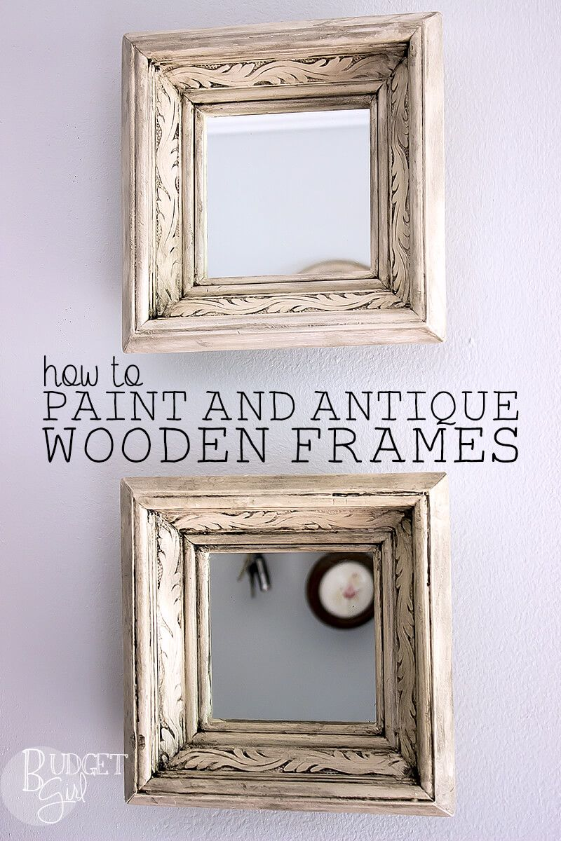 How To Get Distressed Picture Frames Distressed Picture Frames Painted Picture Frames Picture Frame Projects