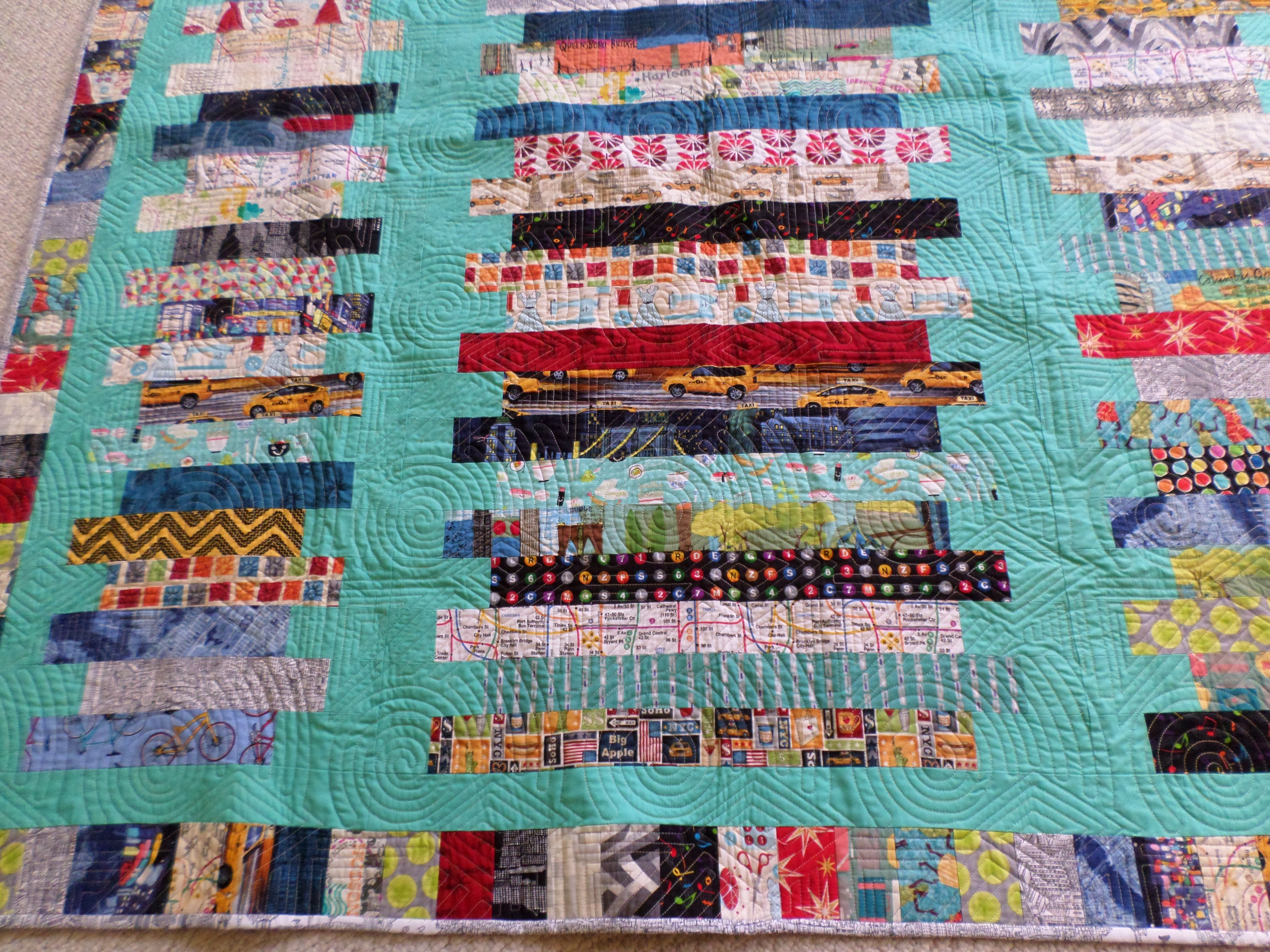 New York Dreamin' is a quilt made for my granddaughter's HS ... : quilt nyc - Adamdwight.com