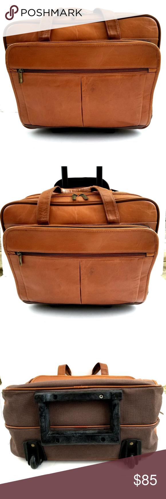 Pelle Studio Rolling Laptop Briefcase
