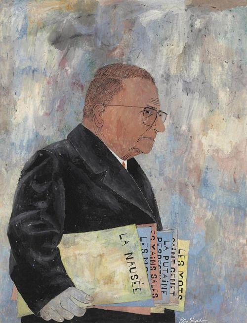 Jean-Paul Sartre by / par Ben Shahn