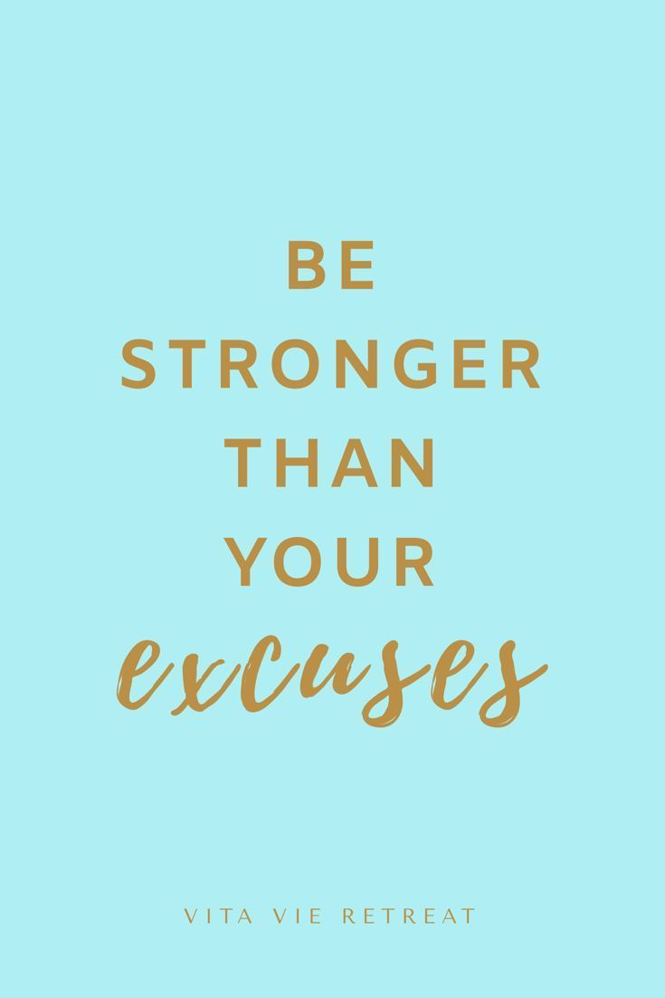 Be Stronger Than Your Excuses - Health & Health Fitness Quote - New Ideas#excuses #fitness #health #...
