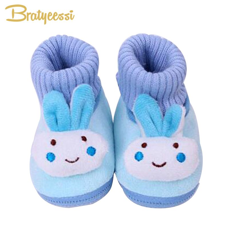 Baby Girl Anti-Slip Socks Cartoon Rabbit Newborn Slipper Shoes Boots 0-18 Months