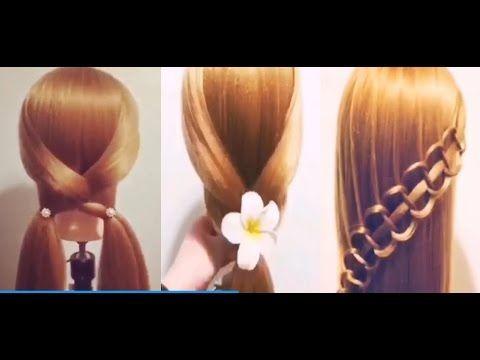 5 Peinados Faciles Y Rapidos Y Bonitos Con Trenzas (P5) - YouTube