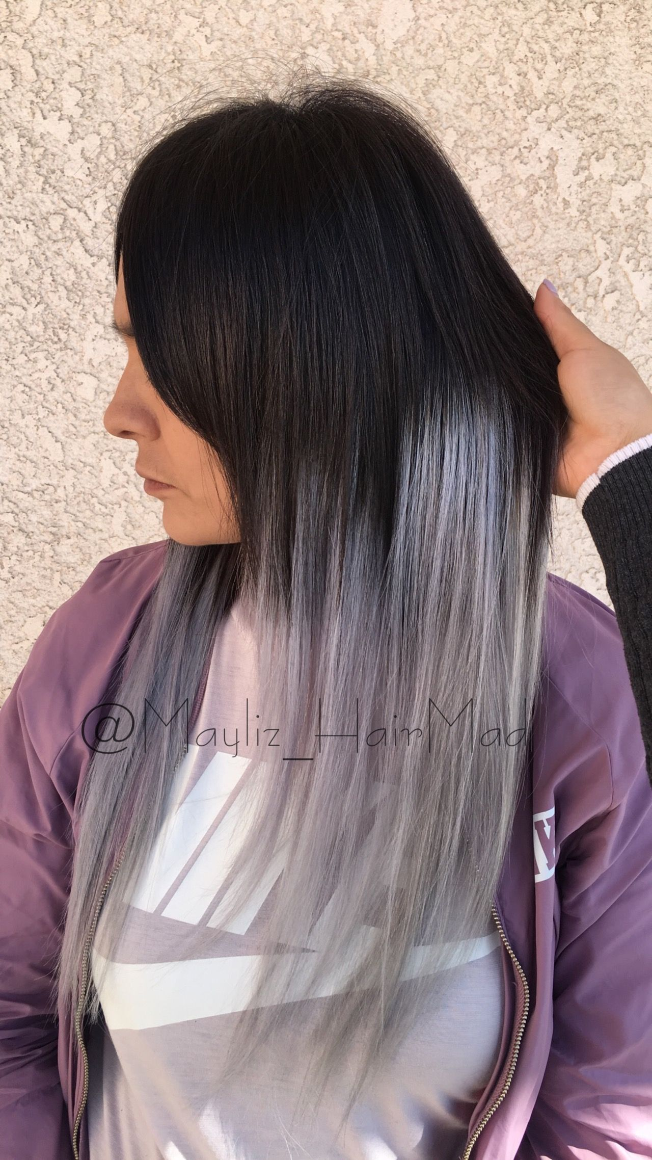 Silver Ombr Tape In Hair Extensions From Babe Hair Extensions