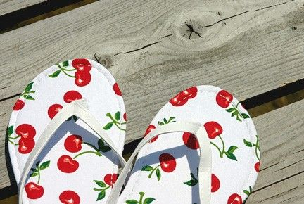 Cute flip flops in a photograph for sale...