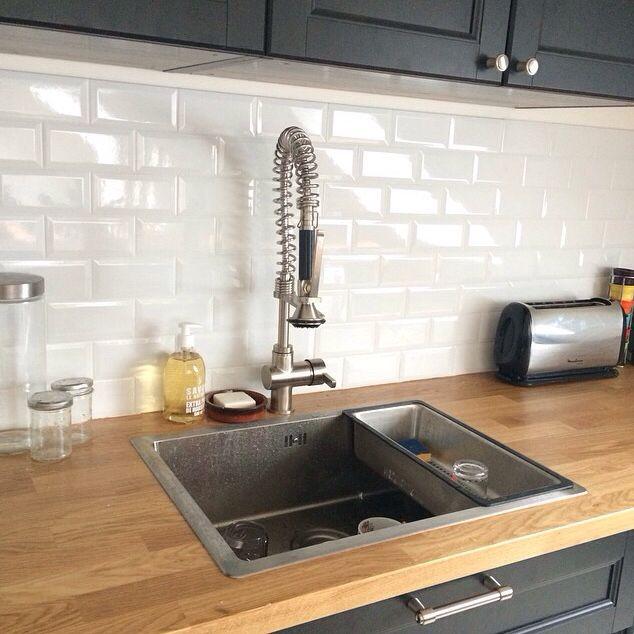 credance cuisine carreaux de m tro d co salon salle manger pinterest cuisine kitchens. Black Bedroom Furniture Sets. Home Design Ideas