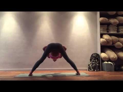 2 wide legged forward fold to tripod headstand  youtube