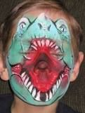 ★Awesome Dinosaur Face Paint!