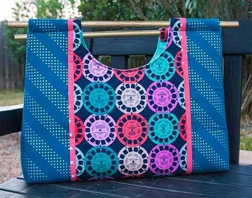 This bag is the perfect size to use as a project tote or shopping bag.