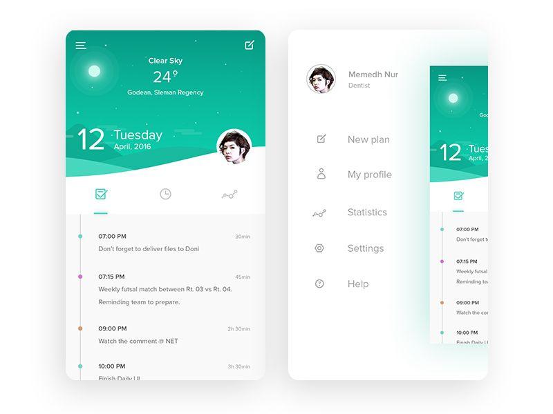Daily Planner Daily Planner App Mobile App Design App Design