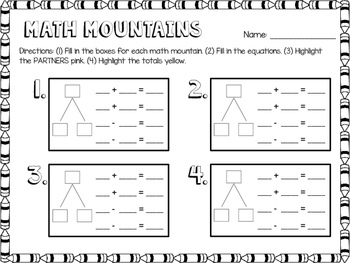 This Printable Is Compatible With Math Expressions For Grade 2 This Printable Gives Students The Opportunity To Practice T Math Expressions Math Mountain Math