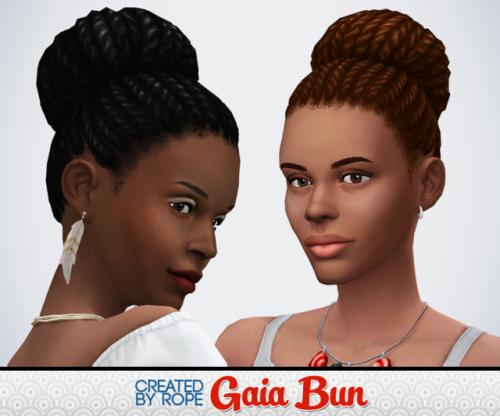 Gaia Bun by Rope via tumblr | Female - Hair - Ethnic | BGC