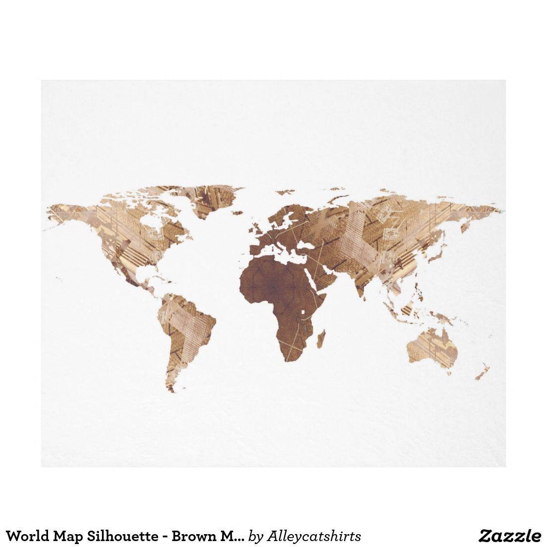 World map silhouette brown mandala fleece blanket fleece world map silhouette brown mandala fleece blanket gumiabroncs Images