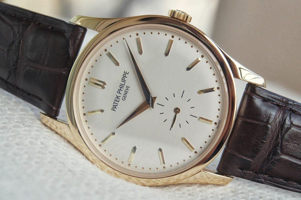 Luxury watches patek philippe new calatrava mechanical opaline white 5196j yellow gold at special new year