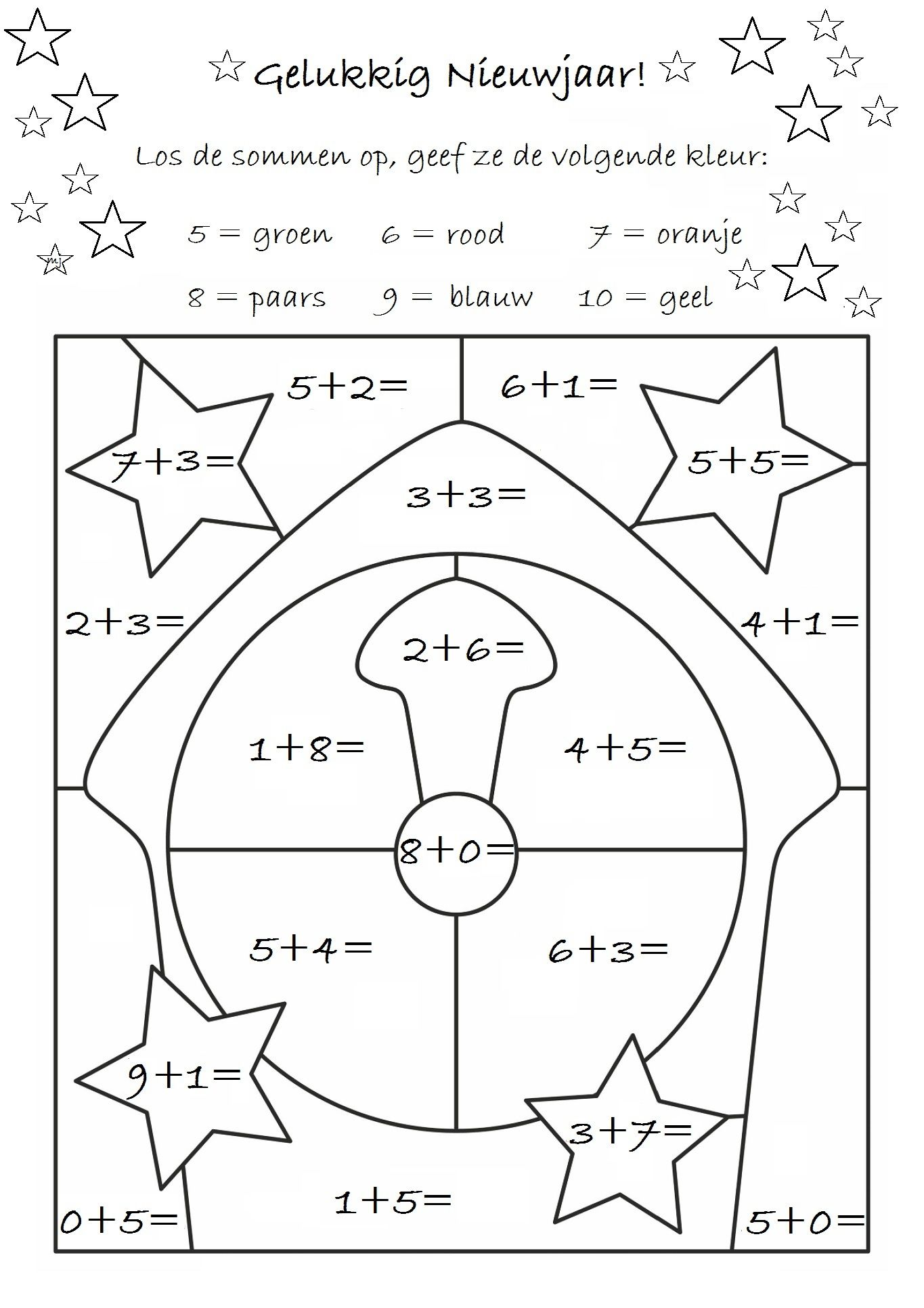 Gelukkig Nieuwjaar! | Clasa pregatitoare | Pinterest | Maths, Kid ...
