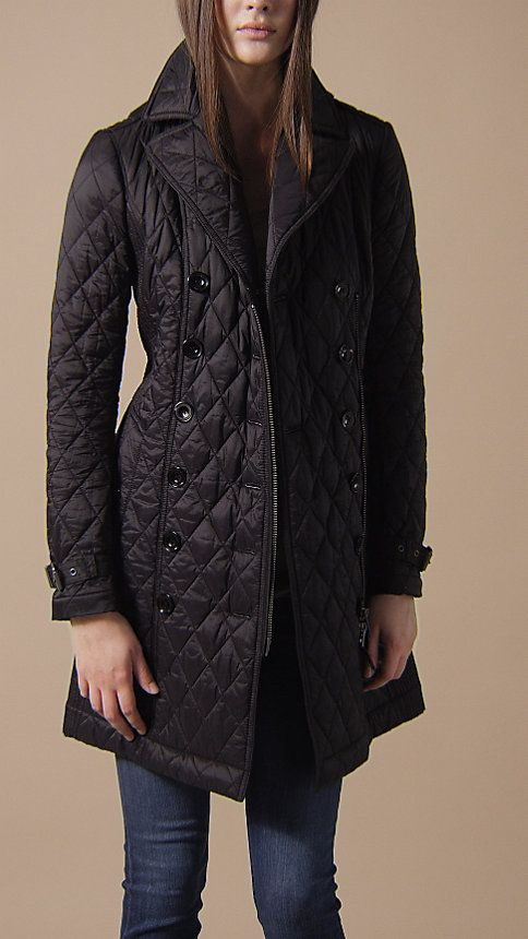 Mid Length Diamond Quilt Trench Coat Burberry Womens Quilted Jacket Jackets Outfits Juvenil