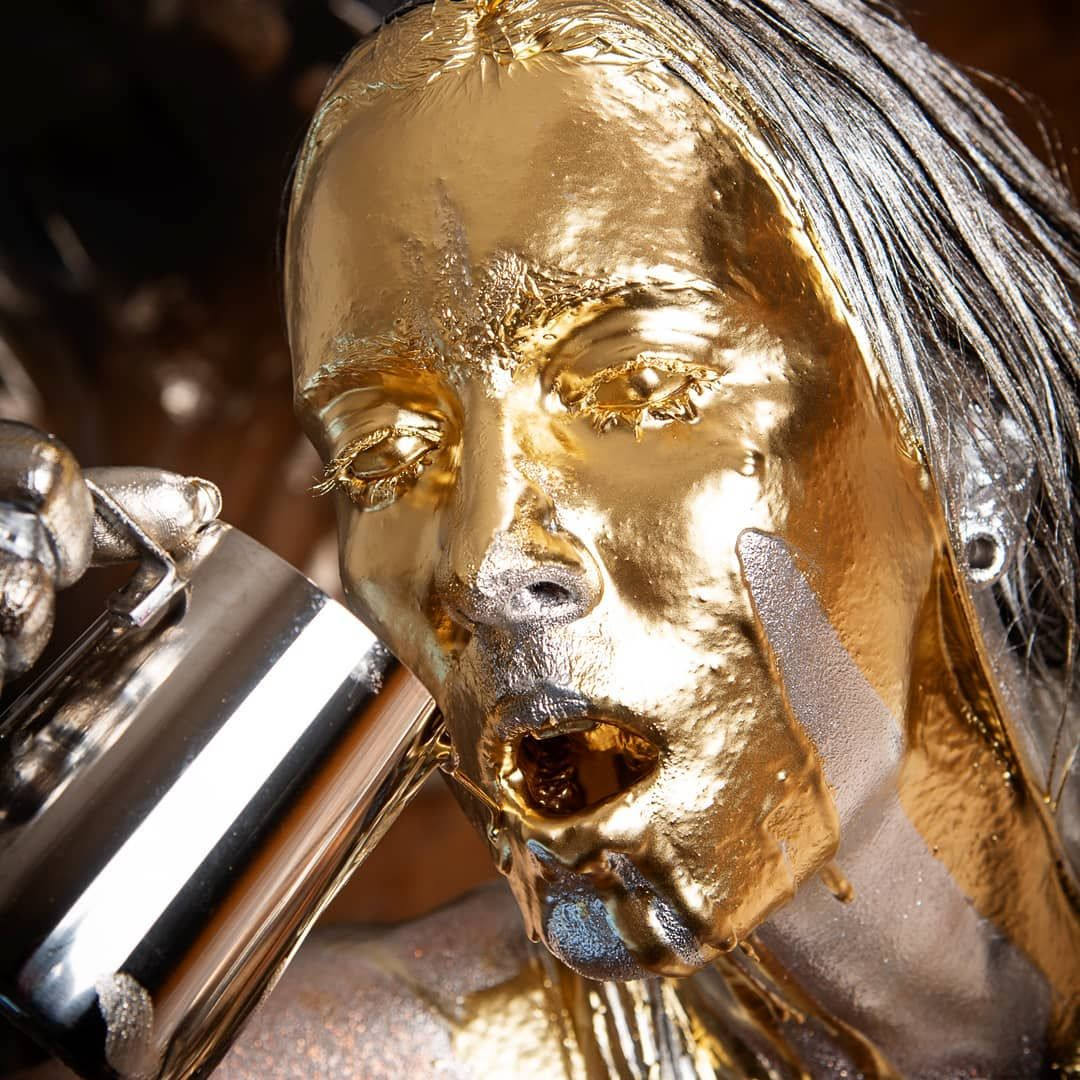 #gold #silver #bodypainting #metalic #wam #messy #girl #