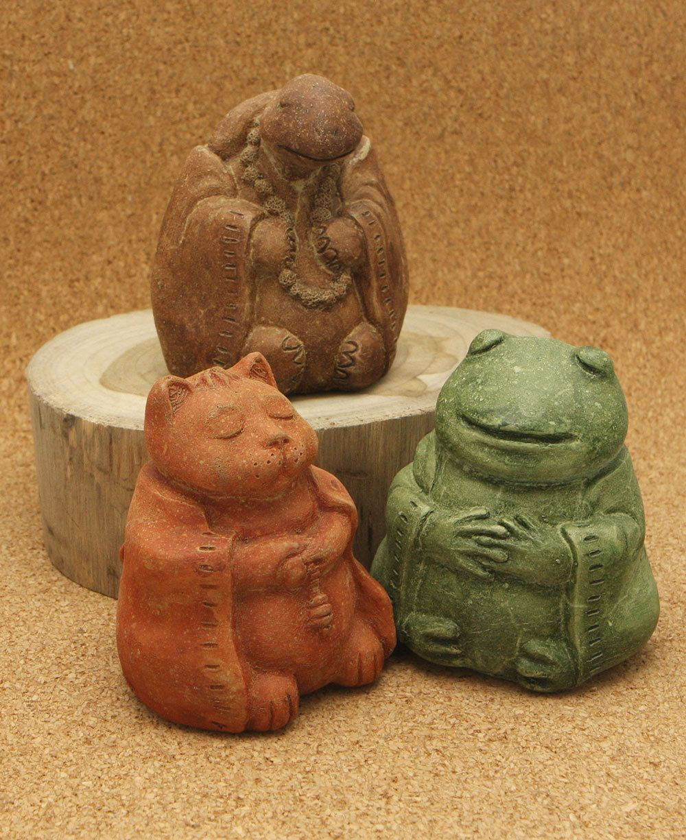 Stone Garden Animals Cast stone meditating zen garden animal statues set of three yoga buy jizo yoga and zen statues by buddha groove workwithnaturefo