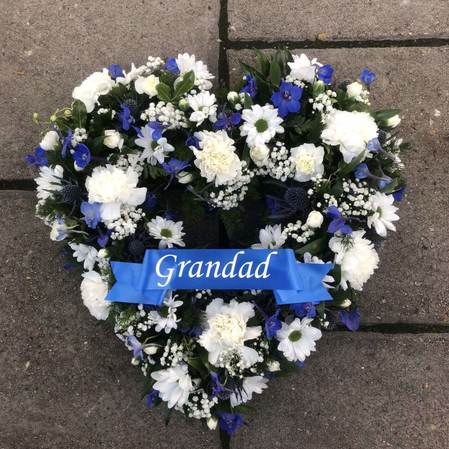 Wedding Flowers Kent: With Personalised Grandad Ribbon