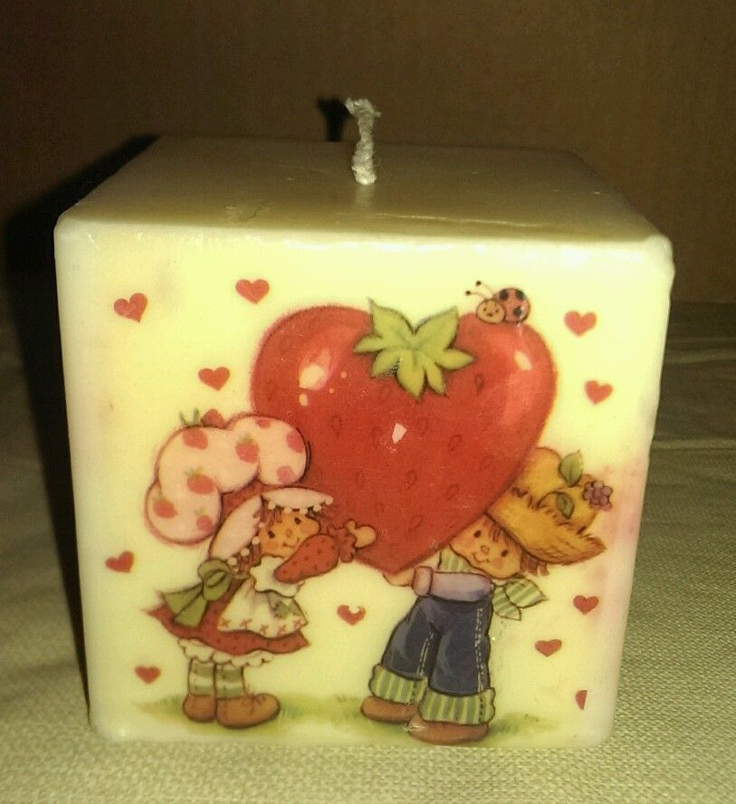 Vintage Strawberry Shortcake Candle with Huckleberry Pie | eBay