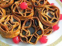 Puglian Christmas Fritter - CARTELLATE BARESE (Barese dialect, CARTEDDATE), with VINCOTTO or COTTO DI FICHI SECCHI Originated from: Sannicandro di Bari, Puglia.