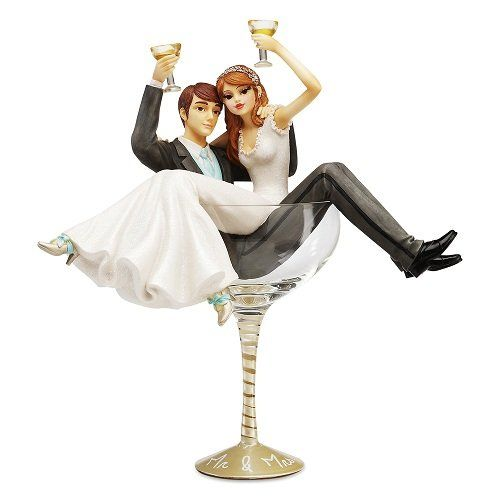 funny wedding cake figures shoe lover wedding cake toppers hiccup champagne glass 14568