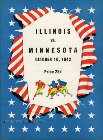 1942 University Of Illinois Homecoming Program Against Minnesota