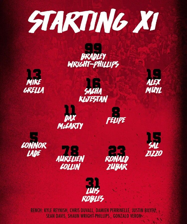 Starting Lineup For The Chivny Soccer Game Go Rbny Redtogether New York Red Bulls Soccer Soccer Pro